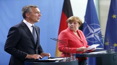 ميركل والأمين العام لحلف الناتو جينز ستولتنبرغ - برلين، ألمانيا، 2 يونيو 2016