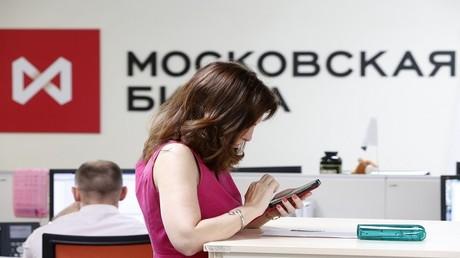 بورصة موسكو في المنطقة الخضراء بعد تعافي النفط