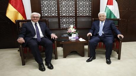 محمود عباس مع الرئيس الألماني فرانك شتاينماير