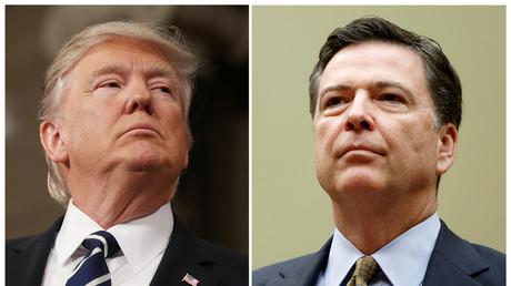 الرئيس الأمريكي دونالد ترامب ومدير مكتب التحقيقات الفيدرالي المقال جيمس كومي