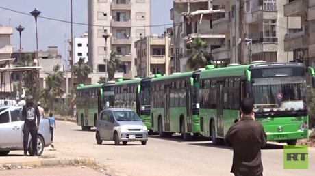 تواصل خروج الدفعة الـ9 من مسلحي حي الوعر