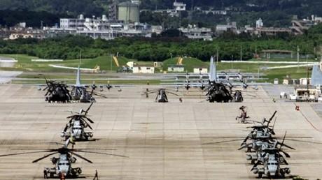 قاعدة أمريكية بجزيرة أوكيناوا اليابانية شبه الإستوائية