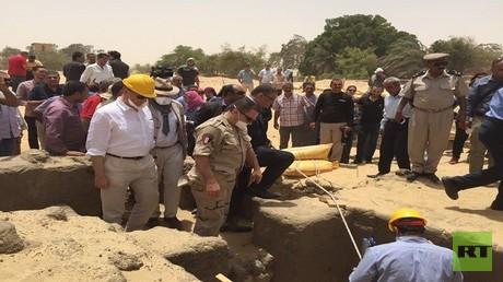 اكتشاف أثري في تونة الجبل بالمنيا بمصر
