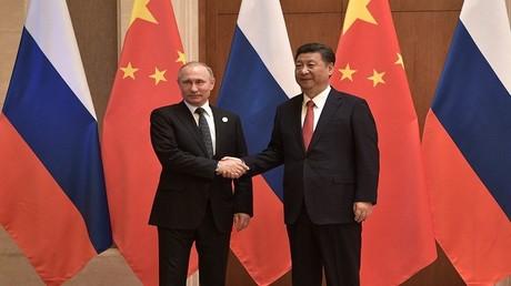 الرئيس الروسي فلاديمير بوتين والصيني شي جين بينغ
