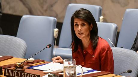 مندوبة الولايات المتحدة الدائمة لدى الأمم المتحدة نيكي هيلي
