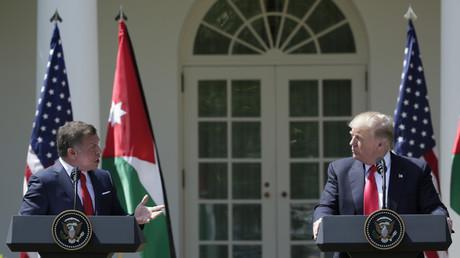الرئيس الأمريكي دونالد ترامب والعاهل الأردني الملك عبد الله الثاني - أبريل 2017