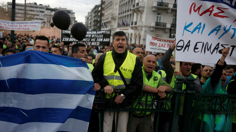 إضراب في أثينا ضد استمرار التقشف