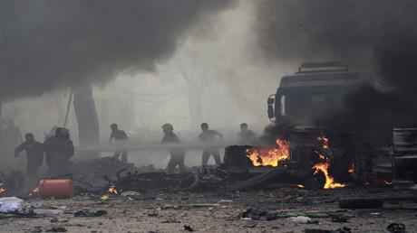 صورة أرشيفية من مدينة الرقة السورية