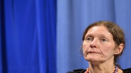 كريستين آسانج، أم مؤسس ويكيليكس جوليان أسانج، أغسطس 2012