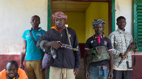 """مسلحون من حركة """"أنتي-بالاكا"""" (جمهورية إفريقيا الوسطى)."""