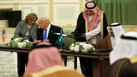 الملك سلمان بن عبدالعزيز والرئيس دونالد ترامب