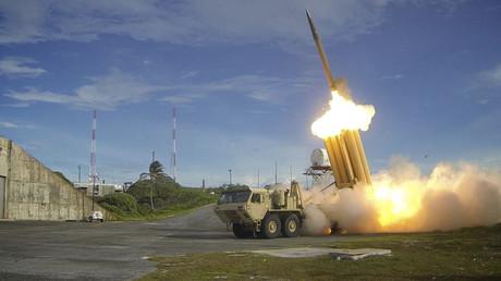 """منظومة أمريكية مضادة للصواريخ من نوع """"THAAD""""."""