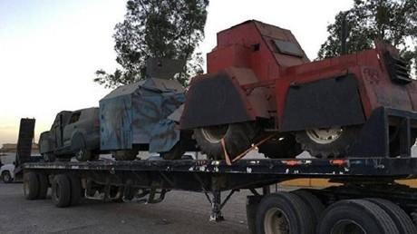 """القوات العراقية تدمر 7 سيارات مفخخة مصفحة لـ""""داعش"""""""