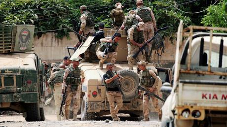 عناصر من قوات الرد السريع العراقية في الموصل.