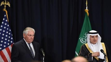 وزير الخارجية السعودي عادل الجبير ووزير الخارجية الأمريكي ريكس تيلرسون - الرياض 20 مايو 2017