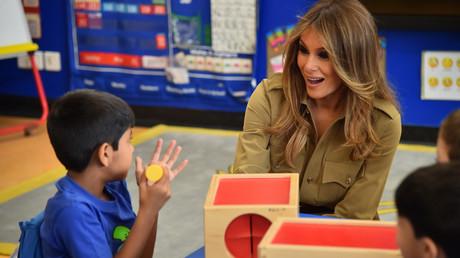 ميلانيا ترامب تزور مدرسة أمريكية في الرياض
