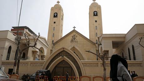 كنيسة مارجرجس في مدينة طنطا المصرية التي استهدفها تنظيم