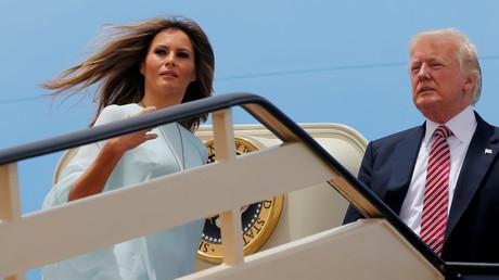 دونالد ترامب وزوجته ميلانيا يعودان السعودية