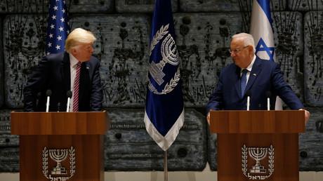 الرئيسان الأمريكي دونالد ترامب والإسرائيلي رؤوفين ريفلين