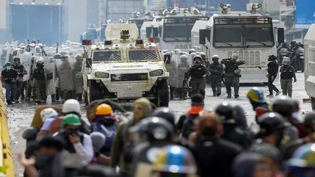 احتجاجات ضد الرئيس الفنزويلي نيكولاس مادورو في كاراكاس، 22 مايو 2017
