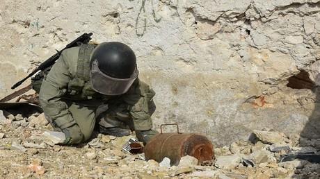 الأرشيف، إبطال مفعول المتفجرات في حلب