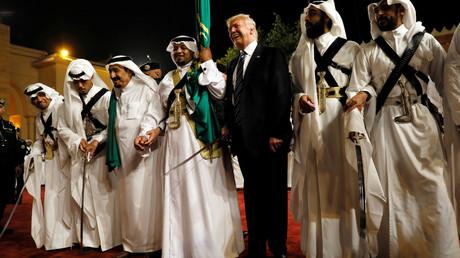 استقبال دونالد ترامب في السعودية