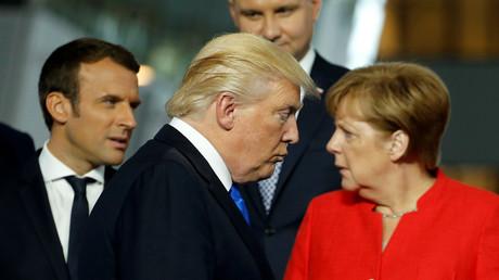 الرئيس الأمريكي دونالد ترامب والمستشارة الألمانية أنغبلا ميركل