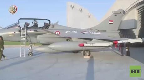 القصف المصري لمواقع داعش في ليبيا