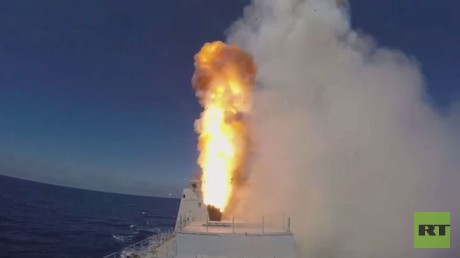 روسيا تطلق 4 صواريخ كاليبر ضد داعش بتدمر