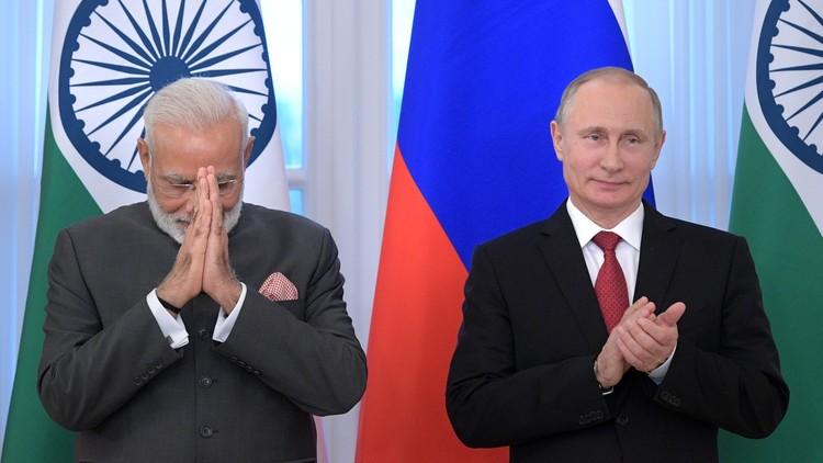 بوتين ومودي يتفقان على مواصلة التعاون لتطوير أحدث أنواع الأسلحة