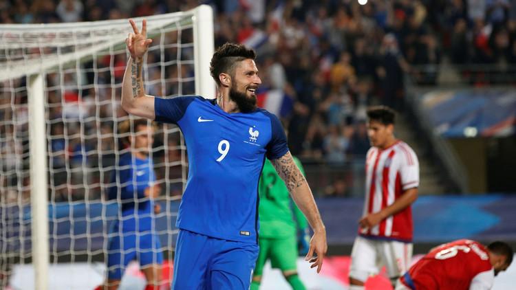 جيرو يقود الديوك الفرنسية للفوز على الباراغواي