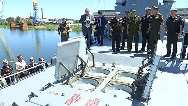 شويغو يتفقد أول سفينة روسية ضربت