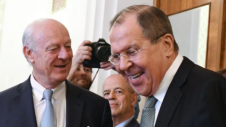 غاتيلوف: دي ميستورا يبحث مع لافروف الخميس تحريك المفاوضات السورية