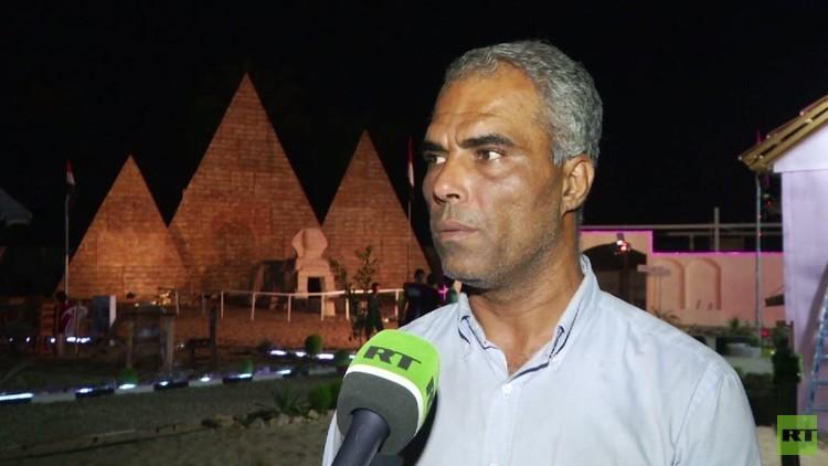 الجرمي يبني نماذج لآثار مصر في غزة