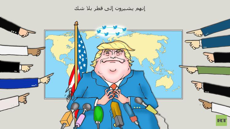 ترامب: إشارات تمويل التطرف تدل على قطر.. والموقف الحازم منها سيصبح بداية نهاية الإرهاب