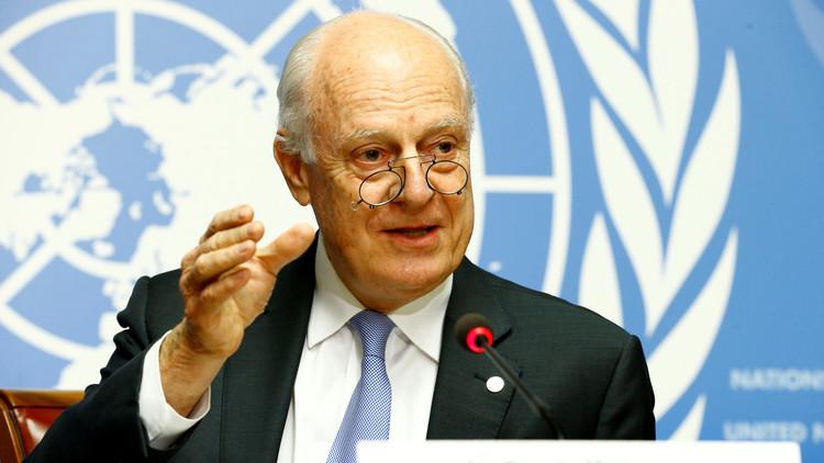 دي ميستورا: يجب تسوية الأزمة السورية من خلال إشراك روسيا
