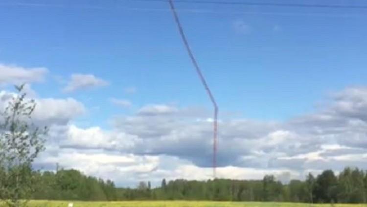 روسيا تدمر أعلى برج تلفزيوني مهجور