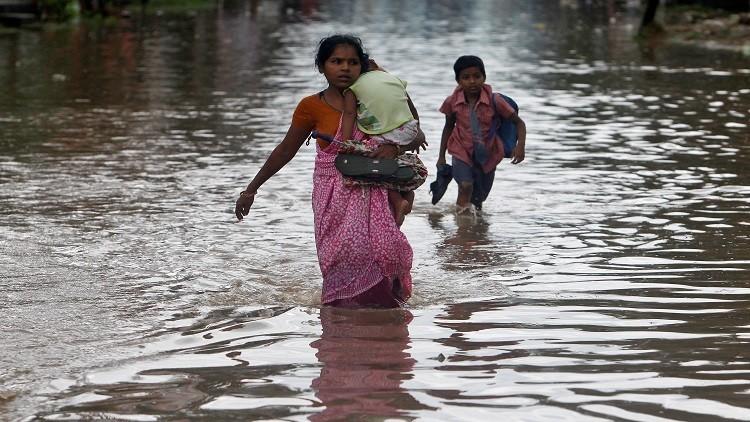 مصرع 16 شخصا بسبب الأمطار الغزيرة في الهند