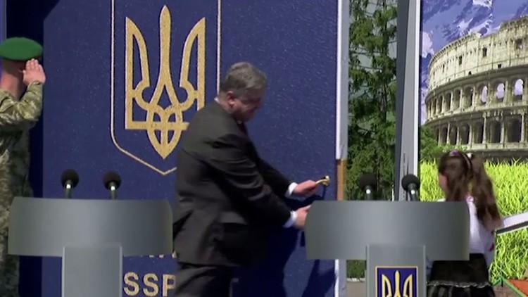 الرئيس الأوكراني يفتح الباب لمواطنيه إلى أوروبا