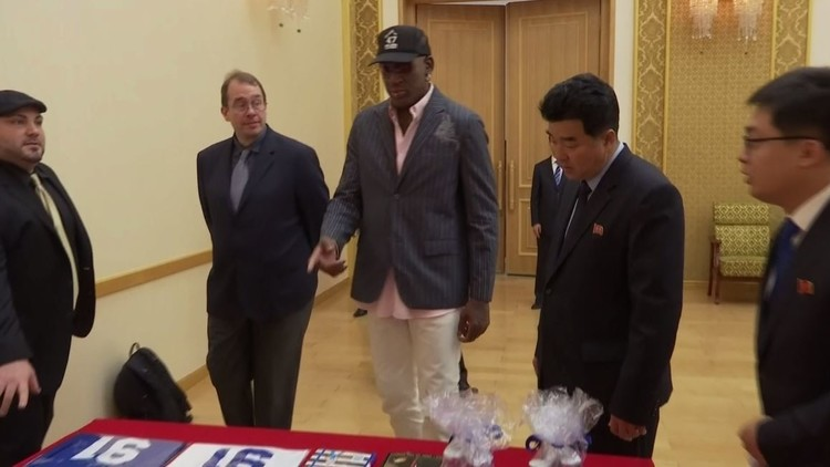 النجم الأمريكي دينيس رودمان في كوريا الشمالية