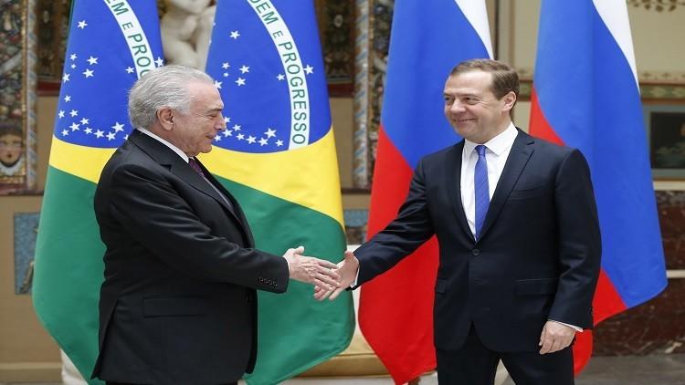 مدفيديف يمازح الرئيس البرازيلي بخصوص الطقس في روسيا