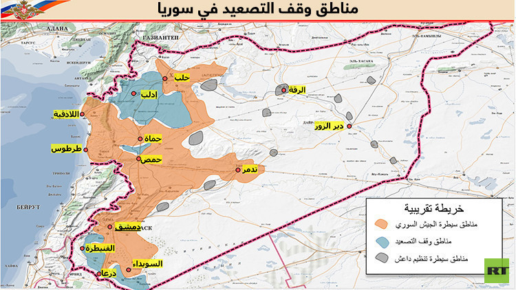 اتفاق مناطق وقف التصعيد في سوريا لا يتضمن أي حضور أردني أو إسرائيلي على الأرض