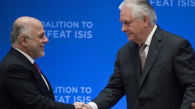 تيلرسون للعبادي: واشنطن لا تؤيد استفتاء كردستان