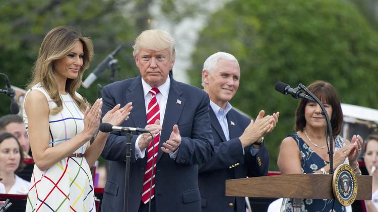 ترامب وميلانيا يحضران زفاف وزير أمريكي