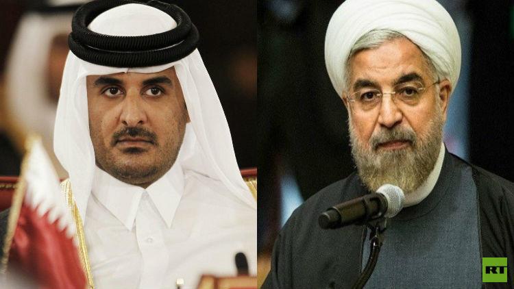 أمير قطر يرد على جيرانه الخليجيين عبر اتصال هاتفي مع روحاني