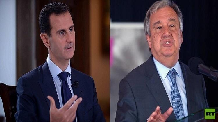 غوتيريش: تحذيرات البيت الأبيض للأسد جدية