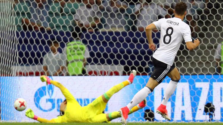 الألماني ليون غوريتسكا أفضل لاعب في مباراة بلاده ضد المكسيك