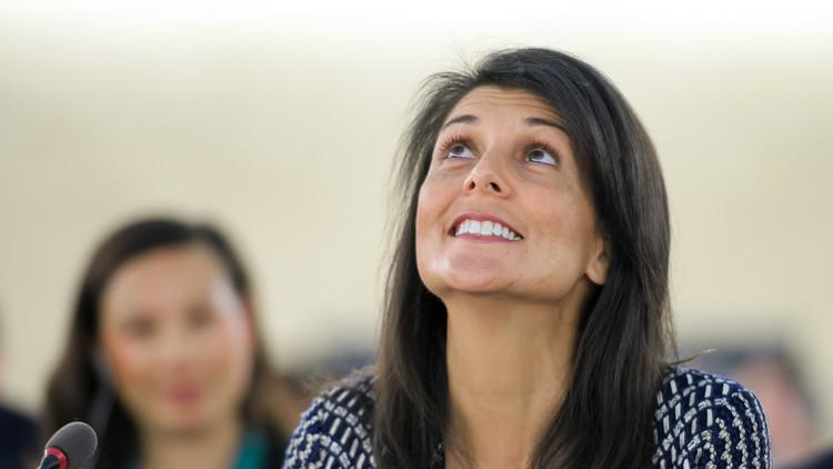 المندوبة الأمريكية بالأمم المتحدة تستعين بعقرب وضفدع ضد إيران!
