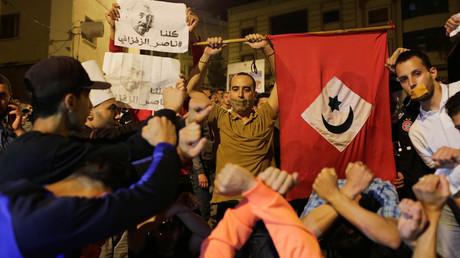 صورة أرشيفية من احتجاجات الحسيمة