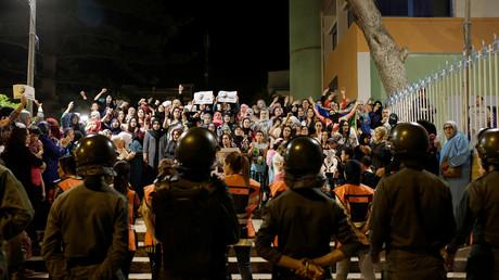 احتجاجات في الحسيمة المغربية ليلة السبت إلى الأحد (03/06/2017).